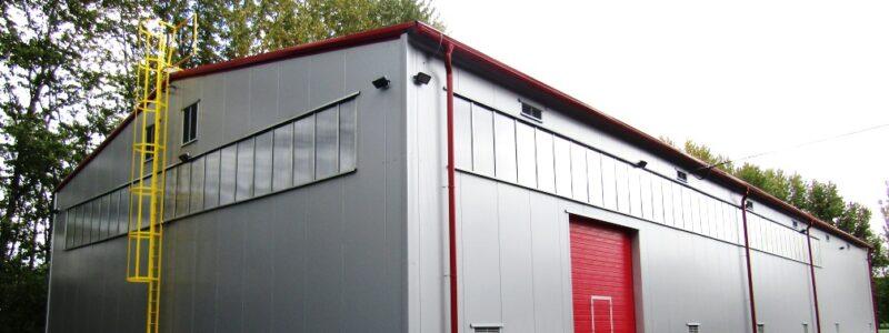 Hala pro skladování žáruvzdorných materiálů – stavební část, areál TŘINECKÝCH ŽELEZÁREN, a.s.