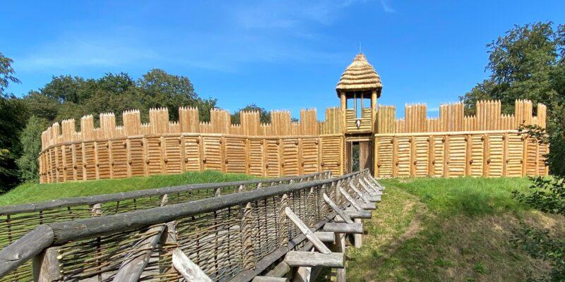 Tesaři použili na opravu hradiska 450 kubíků dřeva